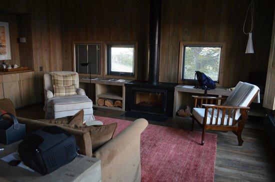Awasi Patagonia - Relais & Chateaux: Interior de la cabaña. Increiblemente acogedora