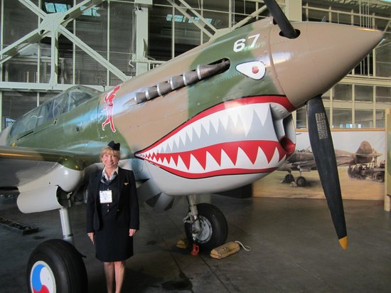 Pacific Aviation Museum Pearl Harbor : p-47 - me in my Pan Am uniform - 25 years later!