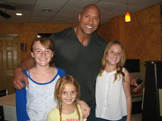 Tedesco's : The Tedesco Girls with Dwayne The Rock Johnson