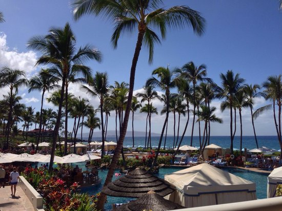 Grand Wailea - A Waldorf Astoria Resort: View from the balcony