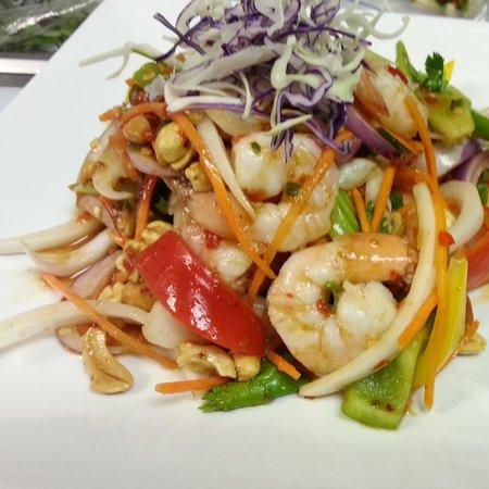 Mahli Thai: Yum Goong. Shrimp Salad.