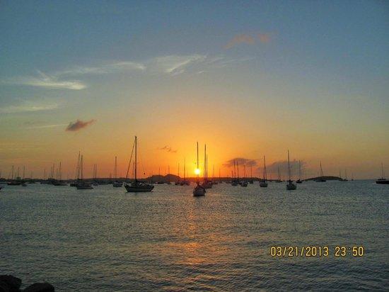 Residence Anse des Sables: un beau coucher de soleil