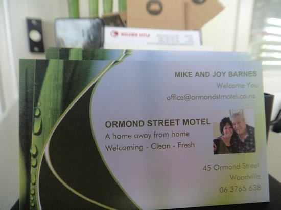 Ormond Street Motel: Our Business Cards