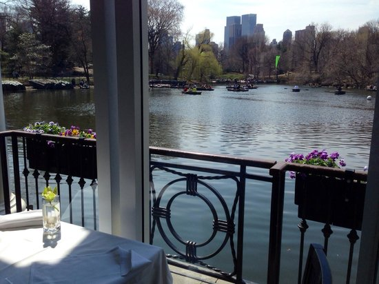 The Loeb Boathouse at Central Park : The view from our table.