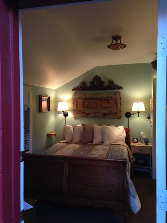 Under The Eaves: The bedroom of our cabin