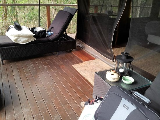 Paperbark Camp: kingfisher verandah