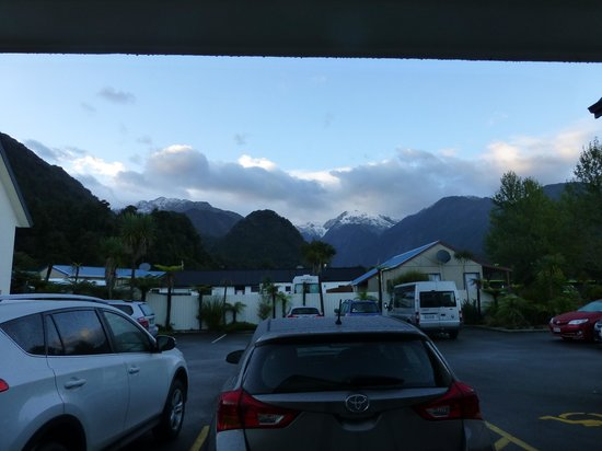 Bella Vista Motel Franz Josef Glacier: view from room.