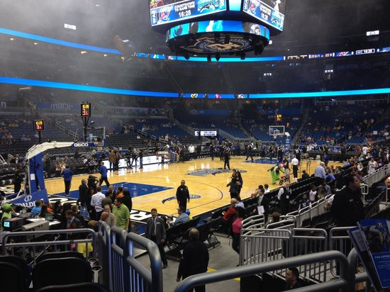 Amway Center: Great view from row 10 block 117.