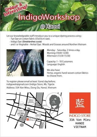 Unique and interesting! Come and join our indigo dyeing workshop!