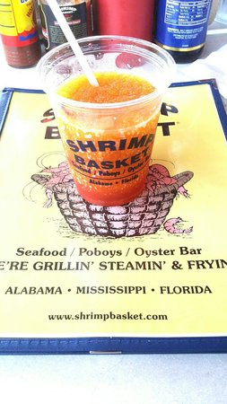 Shrimp Basket: amaretto orange blossom daquri