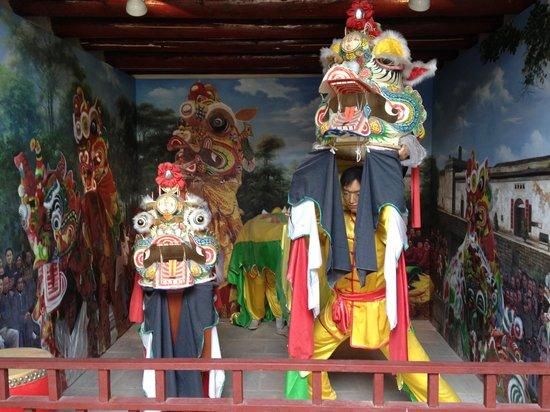 Crane Lake Hakka Village: Entrance to Kylin making/dancing exhibit