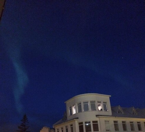 Planet Apartments: View of Northern Lights from balcony!