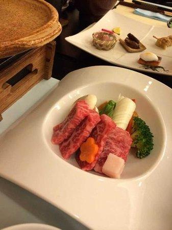 Zao Kokusai Hotel: 蔵王牛のステーキ