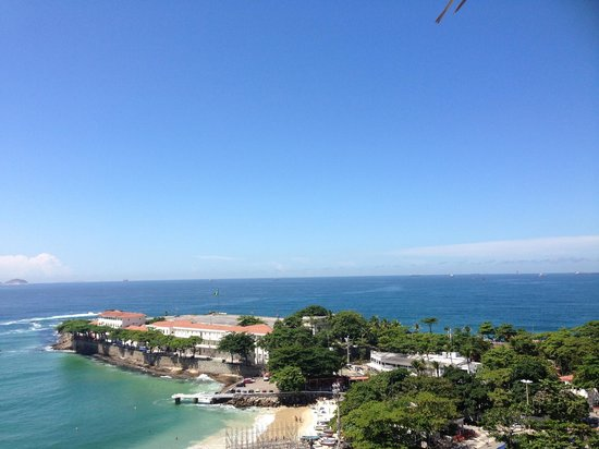 Orla Copacabana Hotel: vue de la terrasse de la piscine