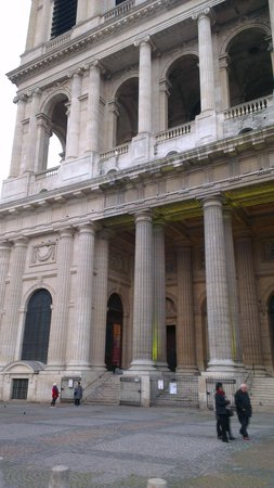 Saint-Sulpice: Imposing exterior of St Sulpice
