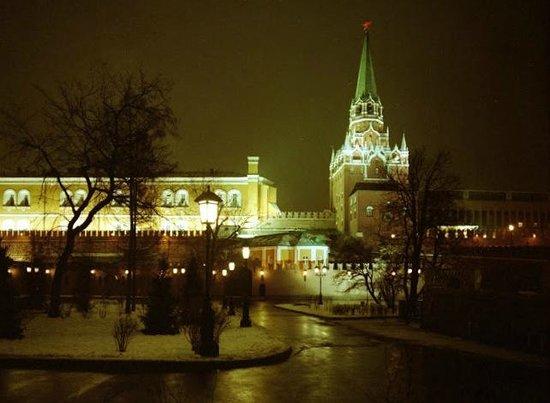 Kremlin: Alexanderpark in de natte sneeuw