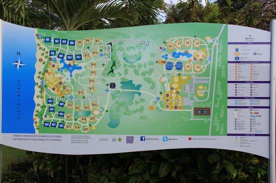 Paradisus Punta Cana: план территории отеля