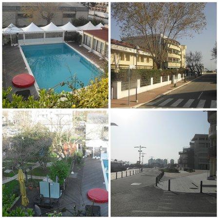 Park Hotel Kursaal: La vista dal balcone e l'ingresso dell'hotel