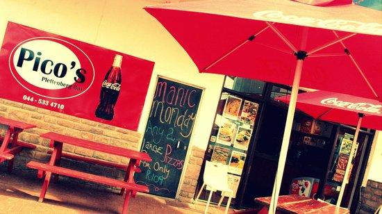 Pico's Restaurant Plettenberg Bay: Melvilles Centre in Main Street Plett, next to Clicks