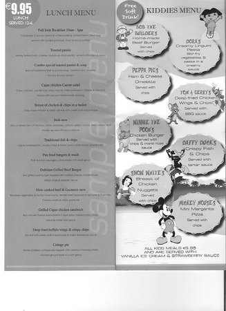 The Old Mill Restaurant: lunch menu + kids