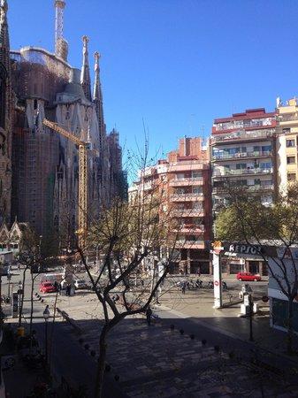 Gaudi Sagrada Familia: View from the apartment
