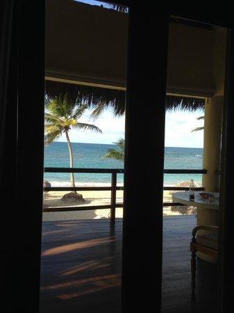 Zoetry Agua Punta Cana : Utsikt från sängen.