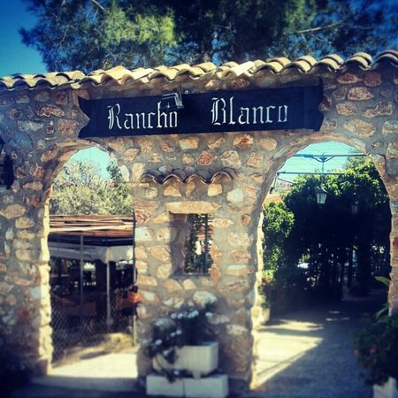 Rancho Blanco: The entrance to the restaurant