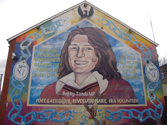 Belfast Mural Tours : bobby sands - IRA volunteer