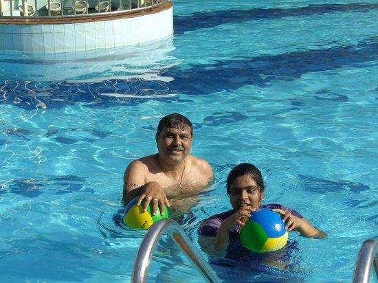 Radhika Beach Resort: IN THE POOL