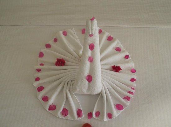 Coral Beach Resort Tiran : creative housekeeping staff