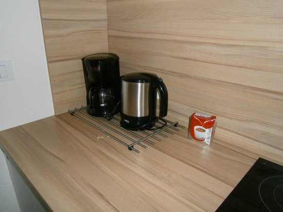 Residence Diana: Kaffemaschine + Wasserkocher