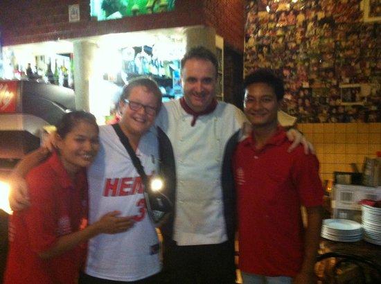 Roma Ristorante & Pizzeria Da Mauro: romas staff and my son