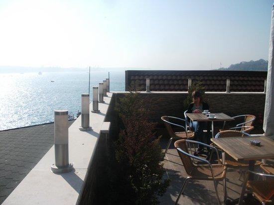 Karakoy Port Hotel: Rooftop view across the Bosphorus.