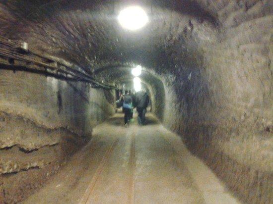Wieliczka: One of the alleys inside the salt mine