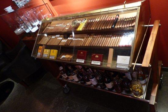 Steirereck: Cigar trolley