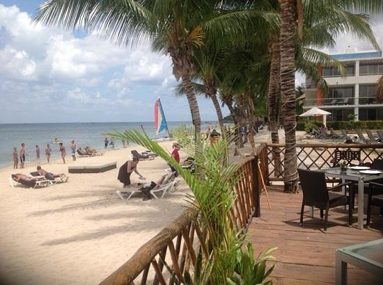 Secrets Aura Cozumel: view while having lunch everyday