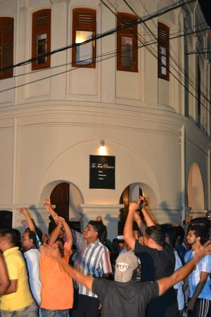 The Fort Printers : Cricket World Cup win celebration outside of the hotel