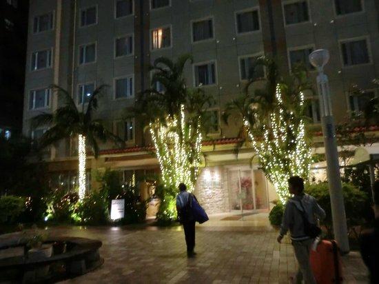 Hotel Grand View Okinawa: ホテルグランビュー正面玄関