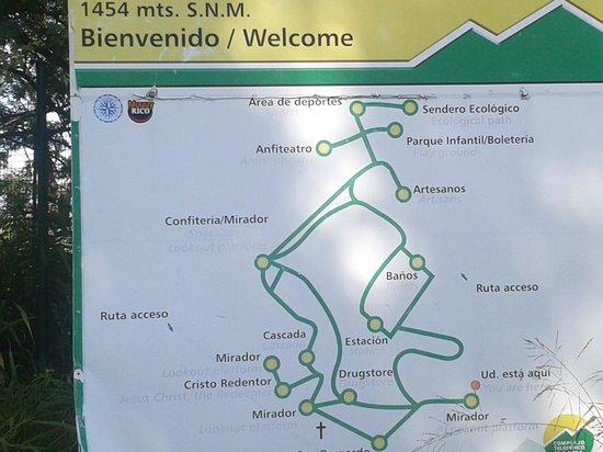Salta Tram (Teleferico) : mapa de la atraccion