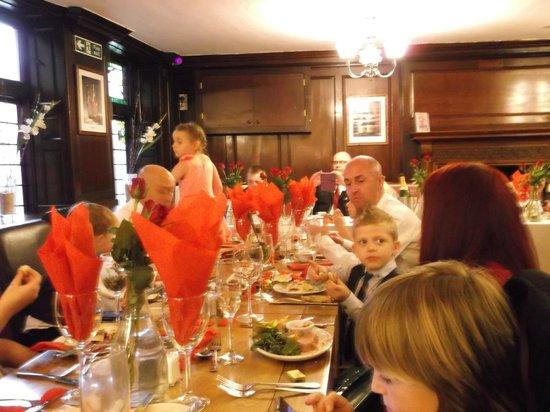 The Grapes: wedding reception