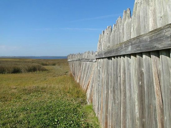 Fort Fisher State Historic Site: fence around fort
