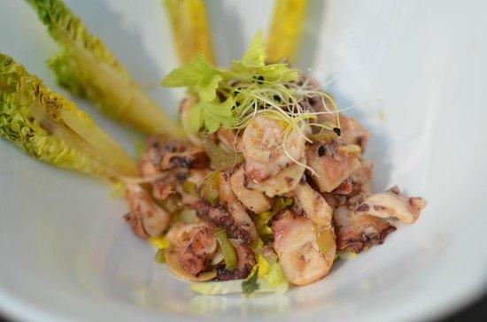 Restaurant l'Océan : Salade de Poulpe au céleri, sucrine au vinaigre de tomate