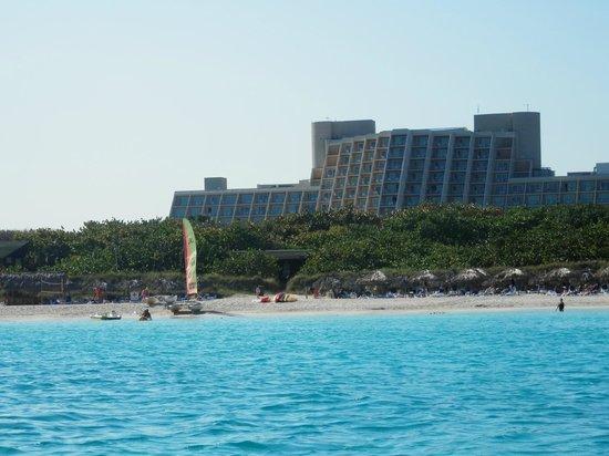 Blau Varadero Hotel Cuba: Hotel view from boat