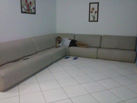 Grande e confortável sofá na sala de TV. – Foto de Cores ...