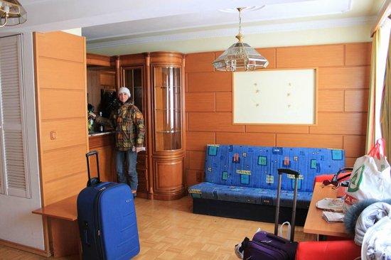 Suite Hotel 200m zum Prater: гостиная