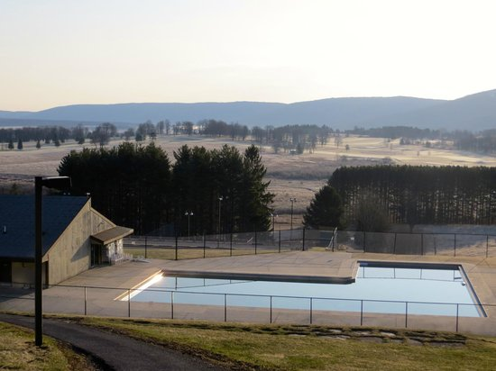 Canaan Valley Resort: The Lodges Large Outdoor Swimming Pool and Valley