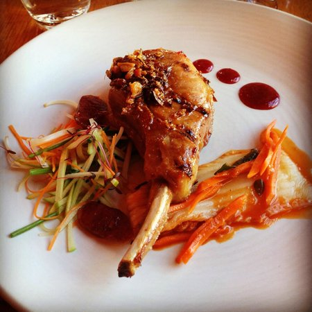 Voyager Estate: XO braised pork cutlet, apple kimchi salad