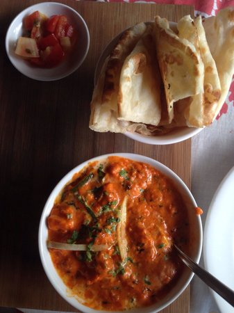 Blue Bali: Naam with paneer (cheese). One of the vegetarian options.