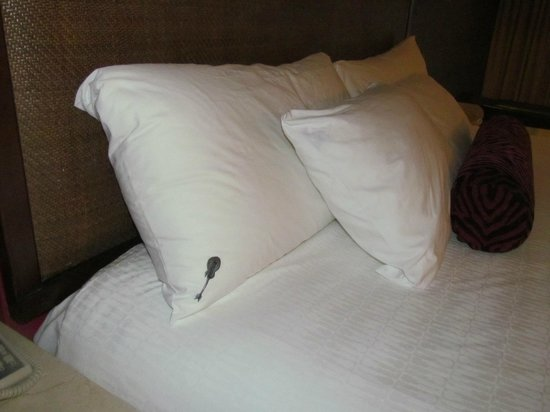 Hard Rock Hotel & Casino Punta Cana: Little guitars on the pillow cases