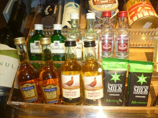 Rudding Park Hotel: well stocked mini bar.